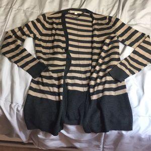 Striped loft cardigan